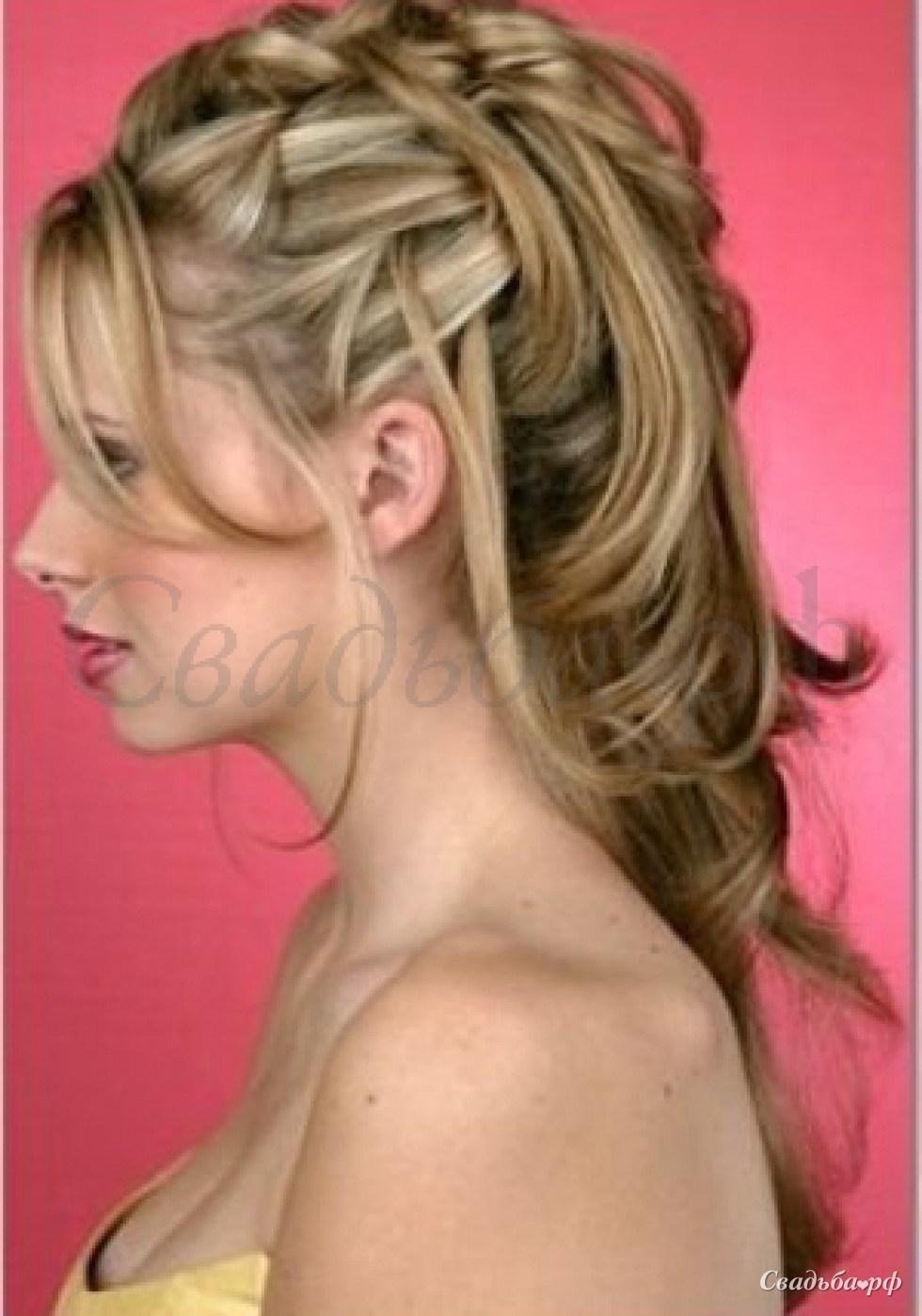 Прическа свидетельницы на средние волосы фото